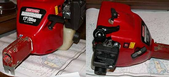 Мотор для лодки из триммера своими руками