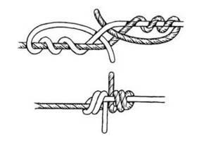 Как привязать несколько поводков змеинным узлом
