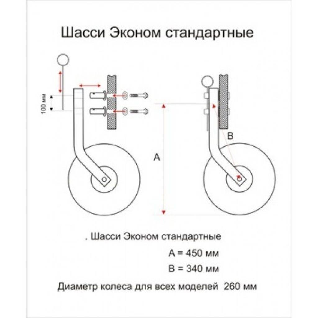 Транцевые колеса на ПВХ