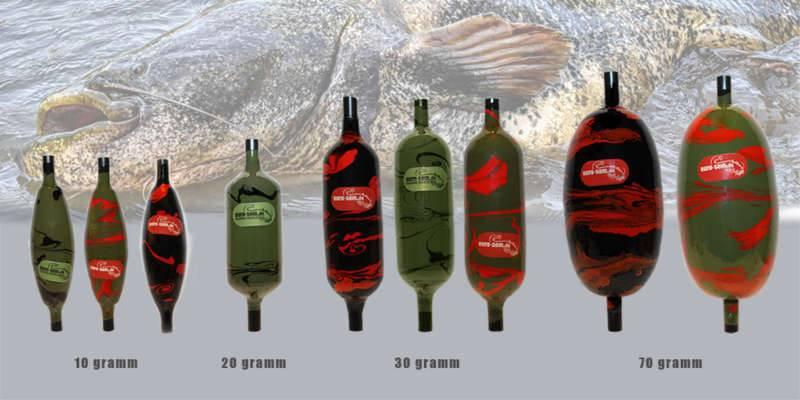Виды подводных поплавков для ловли сома на спиннинг