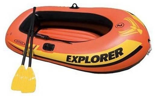 Intex Explorer-200 - бюджетная и популярная у рыболовов лодка