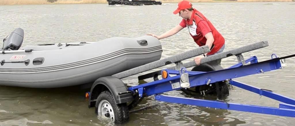 Как закрепить лодку пвх на прицепе