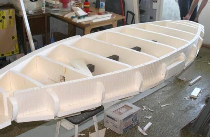 как сделать лодку из пенопласта своими руками