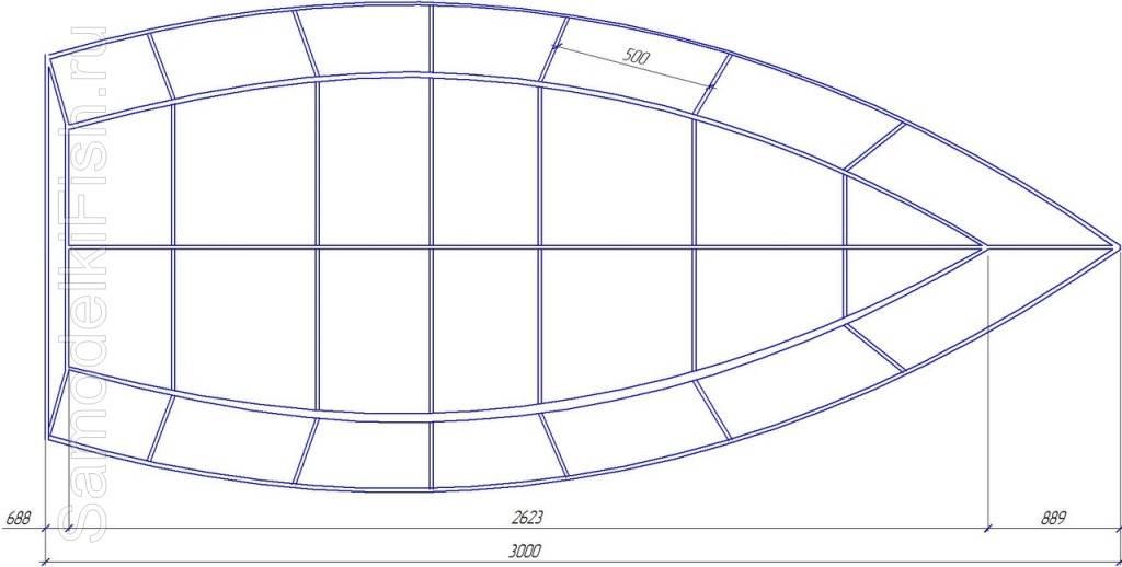 Размеры лодки из фанеры для самостоятельной постройки