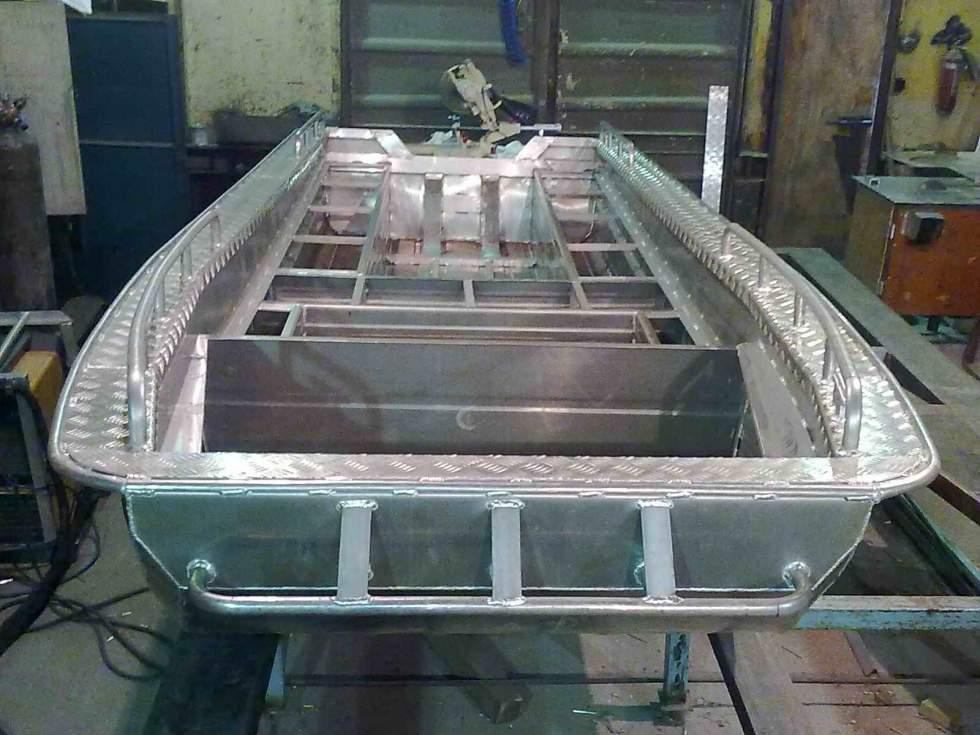Самодельный катер из алюминия