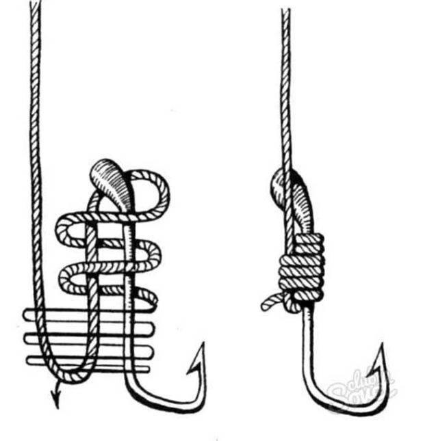 Как вязать рыболовные крючки к леске