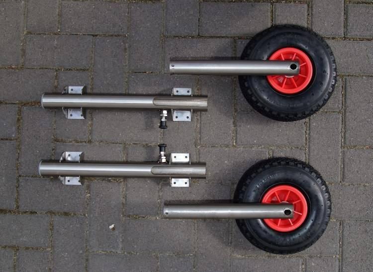 Самодельные транцевые колеса