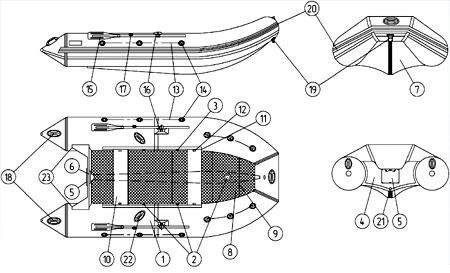 Лодка касатка 335